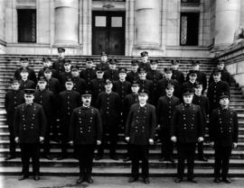 No. 2 Firehall personnel on Vancouver Court House steps