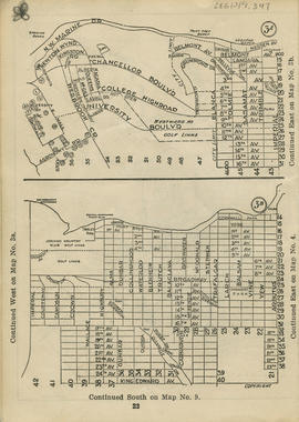 Sectional map and street directory of Vancouver : [Imperial Street to N.W. Marine Drive to West M...