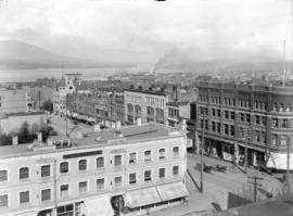 [View of Georgia and Granville Streets, looking east]