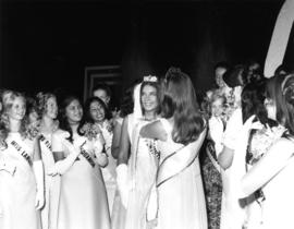 Judy Stewart, Miss P.N.E. 1971 being crowned
