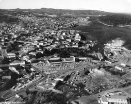 [Aerial photograph of downtown Nanaimo B.C.]