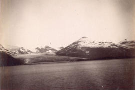 "[View of mountains from the S.S. ""Queen""]"