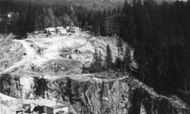 Looking at east side of Capilano Upper Canyon - site of Cleveland Dam