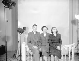 Prentiss Bloedel and family [sitting for] passport [photograph]