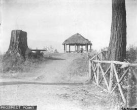 Prospect Point [showing thatched gazebo]