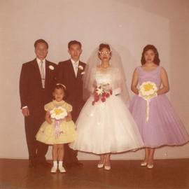 Harry Louie and Ella Wong and their wedding party