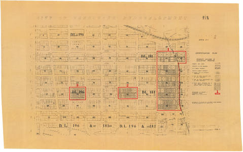 City of Vancouver redevelopment : project 1, area A-1 ... City Of Vancouver Property Map on