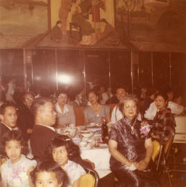 Lillian Wong and other guests at the wedding of Harry Louie and Ella Wong