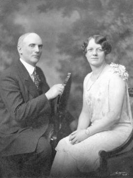 [Studio portrait of George J. and Annie Fowler]