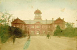 [View of a large building, possibly a school]
