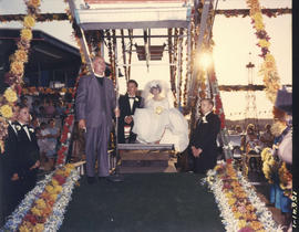 B. Baddeley and J. Terry married by United Church Minister Rev. L. Dixon on P.N.E. Happyland Ferr...