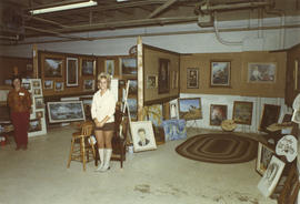 Langley Art Gallery display of art, 1971 P.N.E. World of Art show