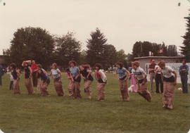 Annual picnic - women's sack race