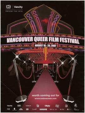 Out on Screen and Vancity present the 19th Annual Vancouver Queer Film Festival : August 16-26, 2...