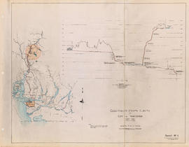 Cheakamus power survey for City of Vancouver 1930-1931. General plan and profile