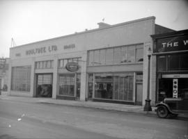 [Exterior view of Boultbee Ltd. auto parts and service, 999 Seymour Street]