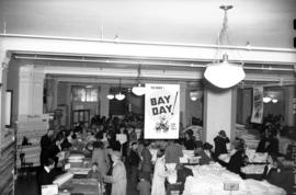 [Interior view of Hudson's Bay Co. store during 'Bay Day' sale]
