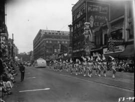 Majorettes in 1953 P.N.E. Opening Day Parade
