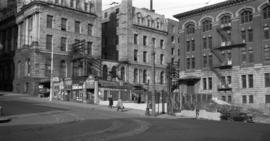 [View of] Post Office [from] corner [of Cordova and Granville Streets]