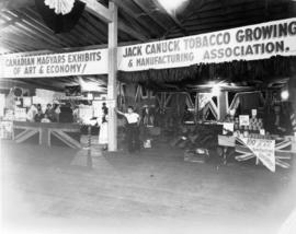 Canadian Magyars exhibits and Jack Canuck Tobacco Growing and Manufacturing Association display