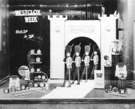 [Spencer's Department Store window display]