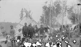 Indian treaty, Rat Portage, on Lake of the Woods