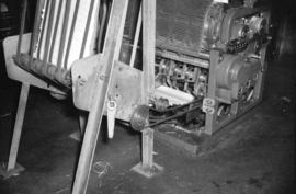[Conveyor belt, used to bring newspapers to the mailroom, on Vancouver-News-Herald press]