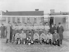 Vancouver City Police A.F. Club at Cambie Grounds [Group photograph of soccer team]