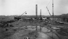 View of construction site, early days