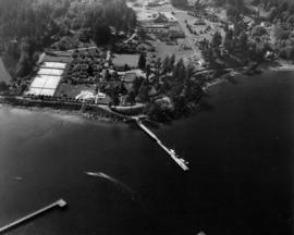 [Aerial view of Evergreen Park Resort]