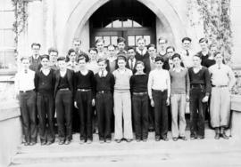 Portrait of boys class at Kitsilano High School