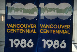 Vancouver Centennial 1986 banners