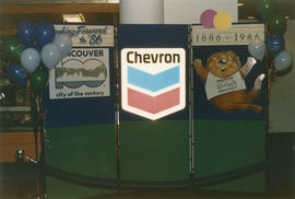 Centennial display at Denman Mall