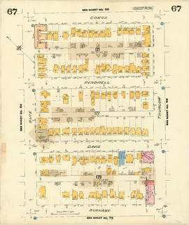 Plate 67 [Thurlow Street to Comox Street to Bute Street to Burnaby Street]
