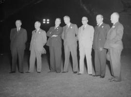 Baseball 1939 Capilanos [Men in suits at a night game]