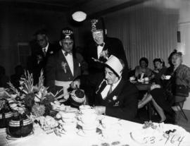 Past P.N.E. President G.M. Ferguson with Gizeh Shriners at tea party
