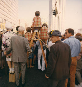 Crowd at 1970 P.N.E. Opening Day Parade