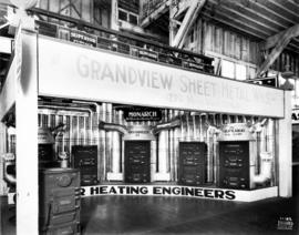 Grandview Sheet Metal Works display of furnaces