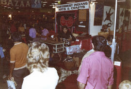 Northwest Indians Arts and Crafts display in Pacific Showmart building