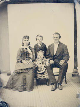 [Mr. and Mrs. T. Sherman with their children George and Laura]