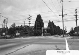 Arbutus [Street] and 16th [Avenue looking ] west