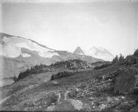 [View of Cheakamus Glacier on the side of Mount Davidson in Garibaldi Distict]