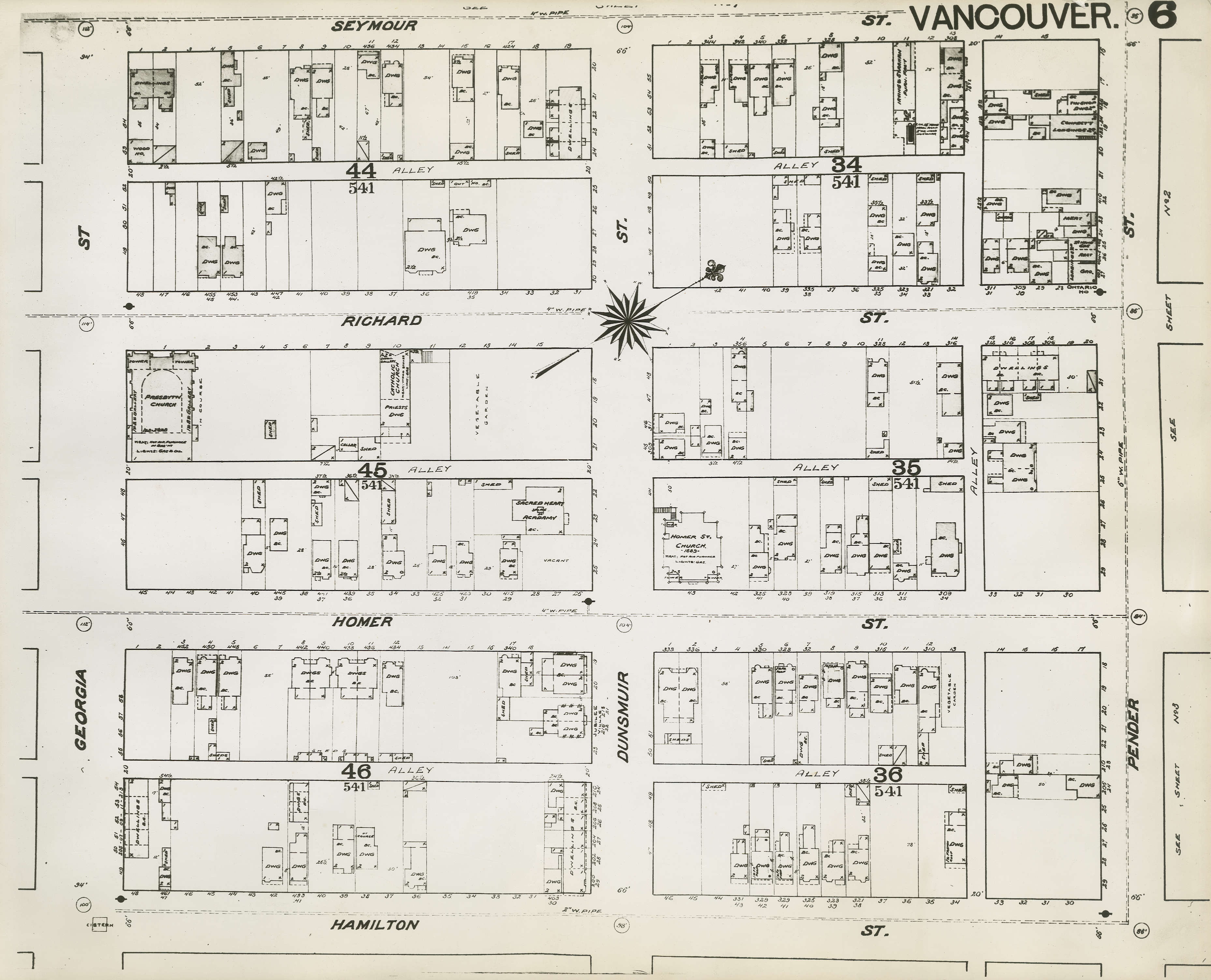 Map Of Georgia Fire.Plan Of Vancouver 1889 Fire Map Pender Street To Seymour
