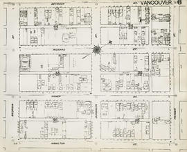 Plan of Vancouver, 1889 [fire map] : [Pender Street to Seymour Street to Georgia Street to Hamilt...
