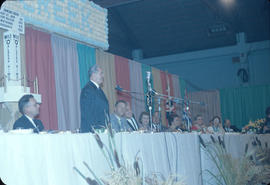 Dawson Creek, second dinner, Bennett speaking