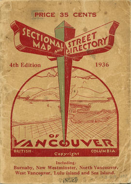 Sectional map and street directory of Vancouver : cover page