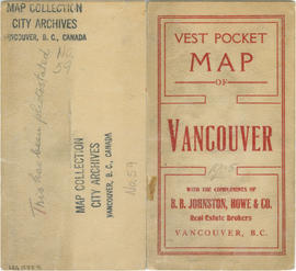 Vest pocket map of Vancouver : map cover