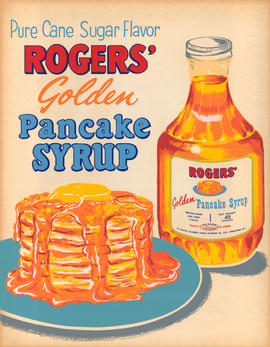 Pure cane sugar flavor: Rogers' golden pancake syrup