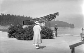 "[Figurehead from the ""Empress of Japan"" at Stanley Park]"