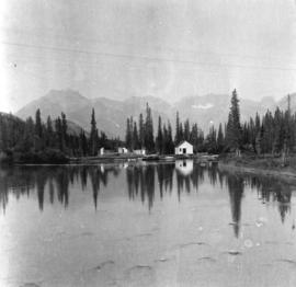 [View of Banff across the water]
